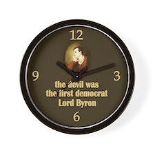 Lord Byron Wall Clock