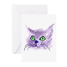 Fuzzy Cat Greeting Cards (Pk of 10)