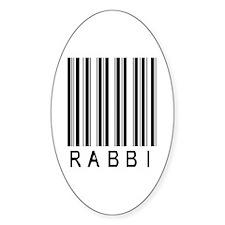Rabbi Barcode Oval Sticker (10 pk)