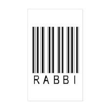 Rabbi Barcode Rectangle Decal