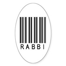 Rabbi Barcode Oval Decal