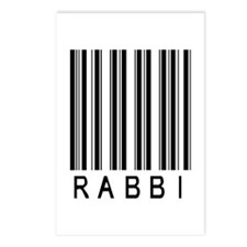 Rabbi Barcode Postcards (Package of 8)
