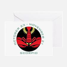 Scorpio date Greeting Card