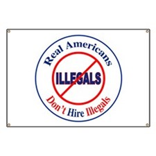 Don't Hire Illegals Banner