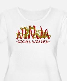 Dragon Ninja Social Worker T-Shirt