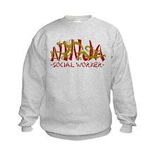 Dragon Ninja Social Worker Sweatshirt