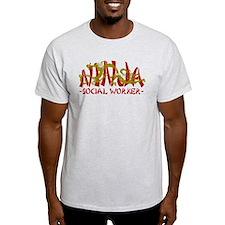 Dragon Ninja Social Worker T-Shirt