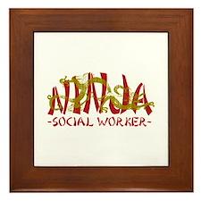 Dragon Ninja Social Worker Framed Tile