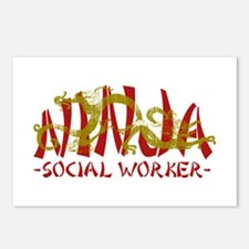 Dragon Ninja Social Worker Postcards (Package of 8