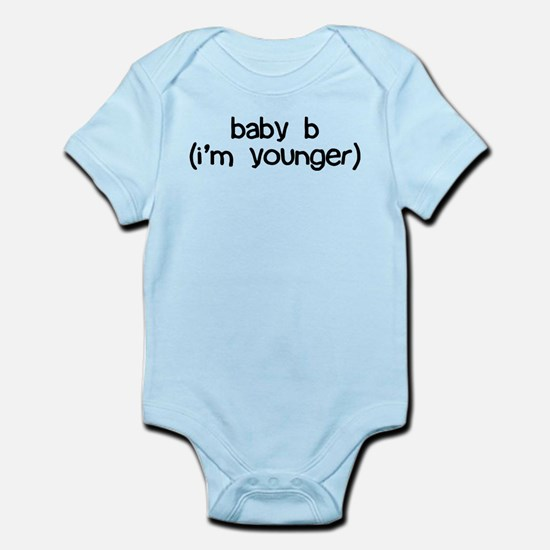 baby b (i'm younger) Infant Bodysuit