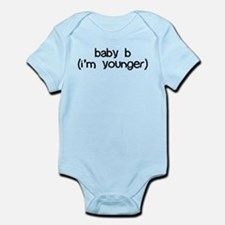 baby b (i'm younger) Onesie