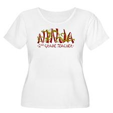 Dragon Ninja 2nd Grade Teacher T-Shirt