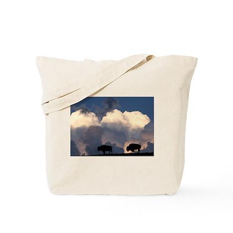 Bison Island Tote Bag