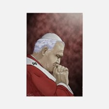 Pope John Paul II Rectangle Magnet