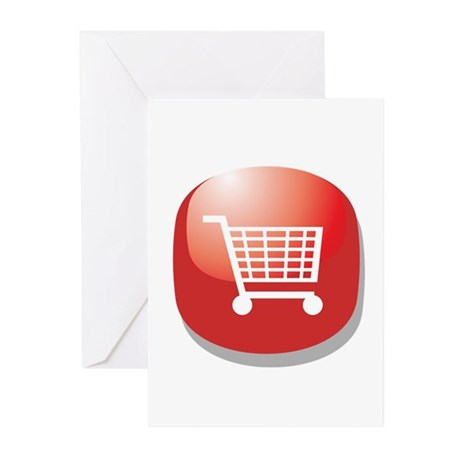 On Line Shopping Addict Greeting Cards (Pk of 20)