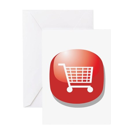 On Line Shopping Addict Greeting Card