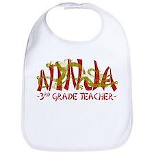 Dragon Ninja 3rd Grade Tcher Bib