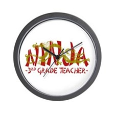 Dragon Ninja 3rd Grade Tcher Wall Clock
