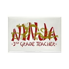 Dragon Ninja 3rd Grade Tcher Rectangle Magnet