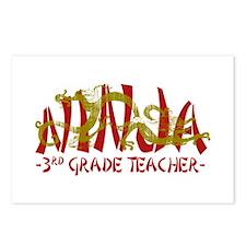 Dragon Ninja 3rd Grade Tcher Postcards (Package of
