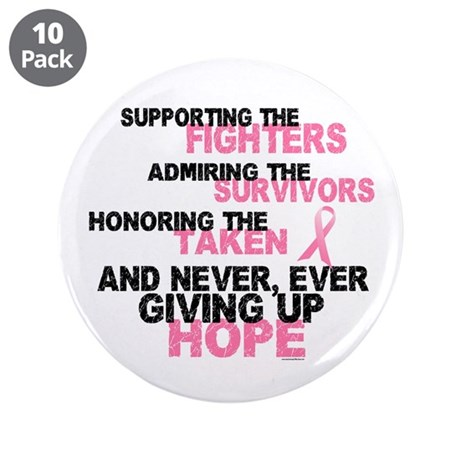 "Fighters Survivors Taken 3 Pink 3.5"" Button (10 pa"