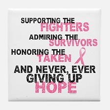 Fighters Survivors Taken 3 Pink Tile Coaster