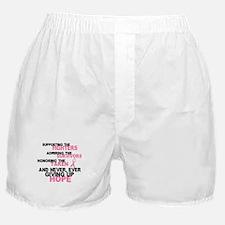 Fighters Survivors Taken 3 Pink Boxer Shorts