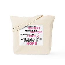Fighters Survivors Taken 3 Pink Tote Bag