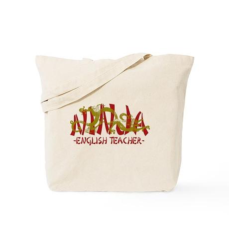 Dragon Ninja English Teacher Tote Bag