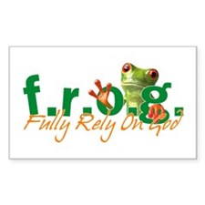 F.R.O.G. Rectangle Sticker 10 pk)