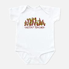 Dragon Ninja History Tchr Infant Bodysuit