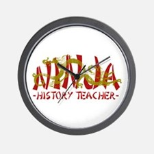 Dragon Ninja History Tchr Wall Clock