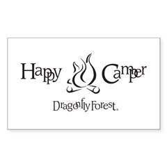 Happy Camper Rectangle Decal