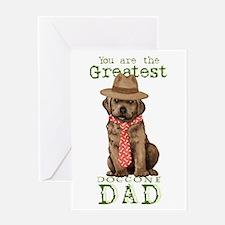 Chocolate Lab Dad Greeting Card