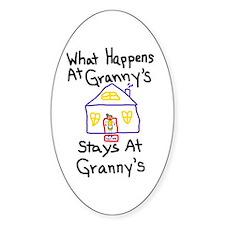 Granny's House Oval Bumper Stickers