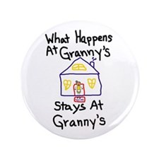 "Granny's House 3.5"" Button"