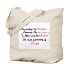 Supporting Admiring Honoring 1.2 (BC) Tote Bag
