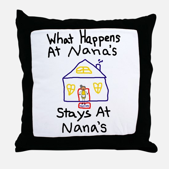 Nana's House Throw Pillow