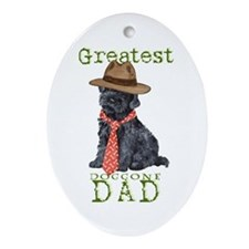 Kerry Blue Dad Oval Ornament