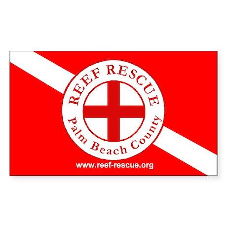 Reef Rescue Dive Flag Sticker