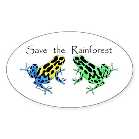 save the rainforest coloring pages - save the rainforest oval decal by liesldartfrgrai
