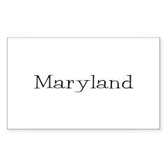 Maryland Rectangle Sticker 50 pk)