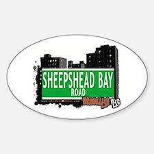 SHEEPSHEAD BAY ROAD, BROOKLYN, NYC Oval Decal