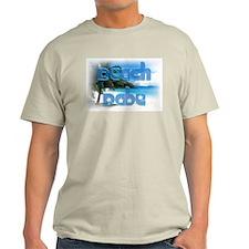 Beach Babe Palm Tree Ash Grey T-Shirt