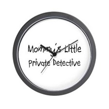 Mommy's Little Private Detective Wall Clock