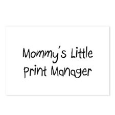 Mommy's Little Print Manager Postcards (Package of