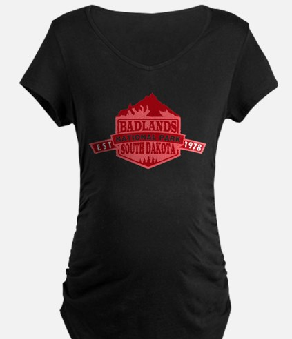 Badlands - South Dakota Maternity T-Shirt