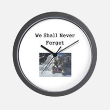 We Shall Never Forget Wall Clock