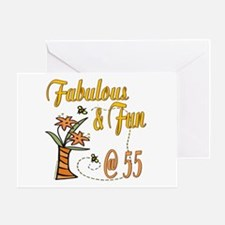 Floral 55th Greeting Card