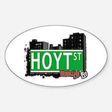 HOYT ST, BROOKLYN, NYC Oval Decal